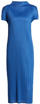 Pleats Please Issey Miyake Monthly Colors August Mockneck Dress