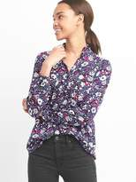 Gap Floral ruffle collar shirt