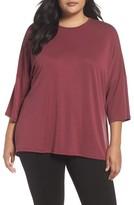 Sejour Plus Size Women's Cross Back Knit Top