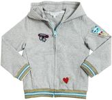 Little Marc Jacobs Zip Up Cotton Sweatshirt W/ Patches