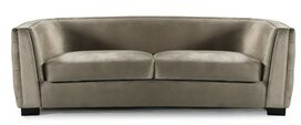 Rosdorf Park Orben Button-Tufted Curved Shelter Arm Chesterfield Sofa Upholstery Color: Taupe