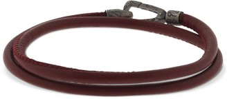 Marco Dal Maso Double Wrap Leather Bracelet