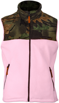 Pink Camo Fleece Vest - Plus Too