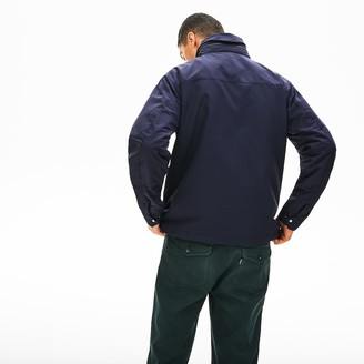 Lacoste Men's Hooded Weather-Adaptable Windbreaker Jacket