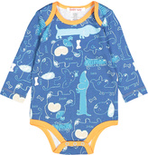 Baby Nay Blue Woof Friends Bodysuit - Infant