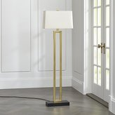 Crate & Barrel Duncan Brass Floor Lamp with Ivory Shade