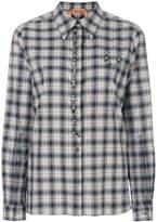 No.21 gemstone embroidered plaid shirt