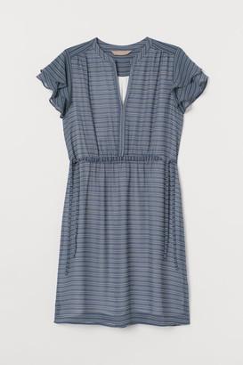 H&M H&M+ Flutter-sleeved Dress - Blue