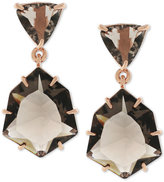 Vince Camuto Rose Gold-Tone Glass Stone Drop Earrings