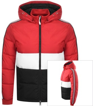 Armani Exchange Hooded Logo Jacket Red