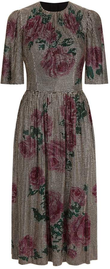 Dolce & Gabbana Diamante Embellished Midi Dress