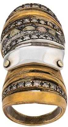 Loree Rodkin Diamond Embellished Armour Ring