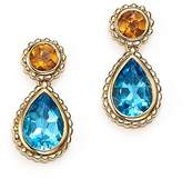 Bloomingdale's Blue Topaz and Citrine Drop Earrings in 14K Yellow Gold - 100% Exclusive