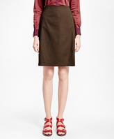 Brooks Brothers Petite Pick-Stitched A-Line Skirt