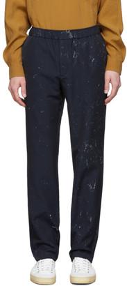 Schnaydermans Navy Painted Trousers