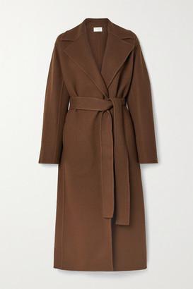 The Row Malika Belted Wool-blend Felt Coat - Brown