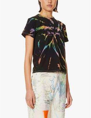 Collina Strada Treat My Body slogan-print tie-dye cotton-jersey T-shirt