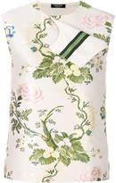 Calvin Klein ribbon trimmed floral blouse