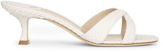 Manolo Blahnik Callamu 50 cream mule sandals