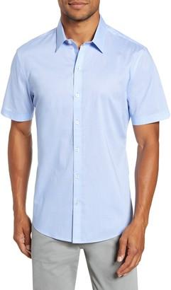 Zachary Prell Fuchs Regular Fit Short-Sleeve Button-Up Sport Shirt
