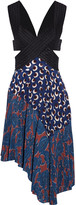 Stella McCartney Embroidered printed silk-twill dress