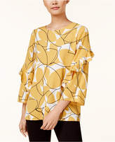 Alfani Ruffle-Sleeve Top, Created for Macy's