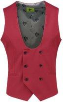 Noose & Monkey Ellroy Suit Waistcoat Rasberry