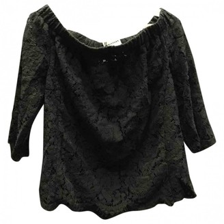 Whistles Black Lace Top for Women