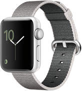 Apple Watch Series 2 38mm Silver-Tone Aluminum Case with Pearl Woven Nylon Band