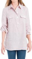 Max Studio Check Linen Tunic