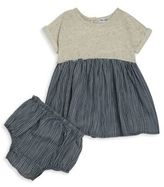 Splendid Baby's Mixed Knit Dress and Bloomers Set