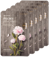 The Face Shop Real Nature Peony Face Mask - Firming (5 PK)