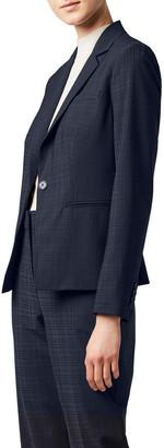 David Lawrence Tonal Check Blazer