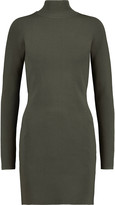 Dion Lee Cutout stretch-knit turtleneck mini dress