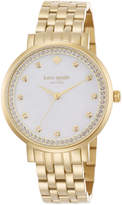 Kate Spade Women's Monterey Gold-Tone Stainless Steel Bracelet Watch 38mm 1YRU0821