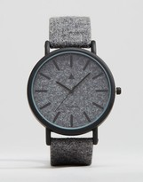 Asos Watch In Charcoal Felt