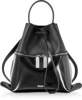 Kenzo Black Patent Leather Backpack