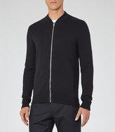 Reiss Fuller Knitted Bomber Jacket