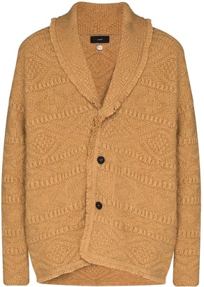 Alanui Fisherman textured-knit cardigan