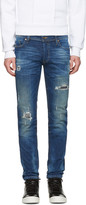 Diesel Blue Destroyed Sleenker Jeans