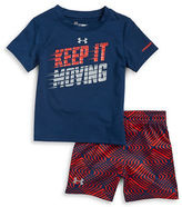 Under Armour Baby Boys Baby Boys Keep It Moving Tee and Shorts Set