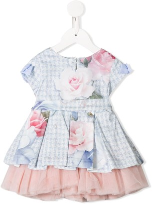 Lapin House Floral Print Tulle Dress