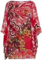 Etro Paisley and floral-print crepon kaftan