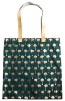 Rosanna Palm Tree Canvas Tote - Green