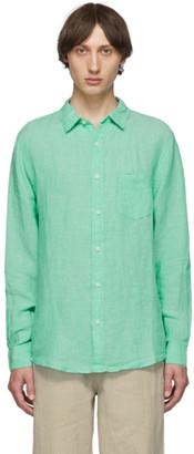 Onia Green Linen Abe Shirt
