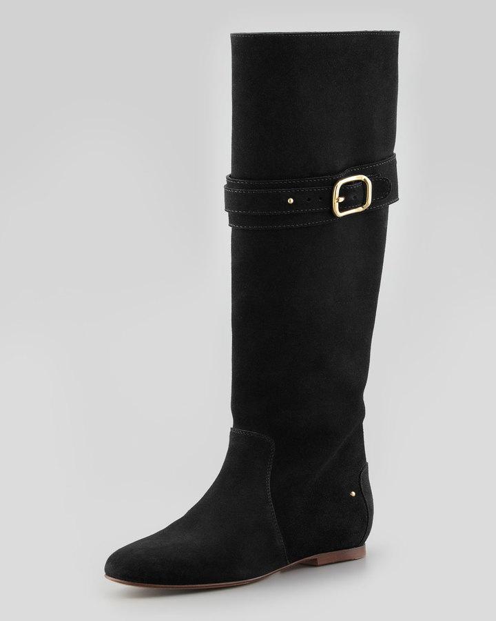 Chloé Paddington Suede Flat Knee Boot