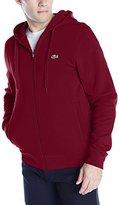 Lacoste Men's Sport Full Zip Brushed Fleece Hooded Sweatshirt