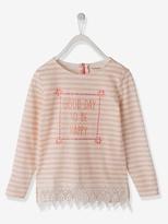 Vertbaudet Girls Sailor-Style T-shirt