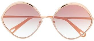 Chloé Eyewear Oval Frame Sunglasses