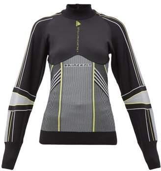 adidas by Stella McCartney Contrast-panel Performance Jacket - Womens - Black Multi